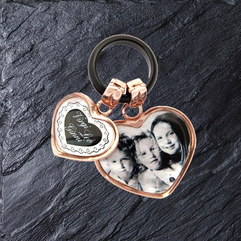 anello cuore doppio amami