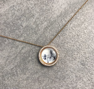 Girocollo Pois Ghiera Diamanti