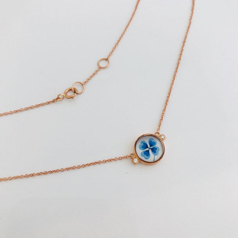 TAJANI-GIROCOLLO-MICROPOIS-QUADRIFOGLIO-BLUE